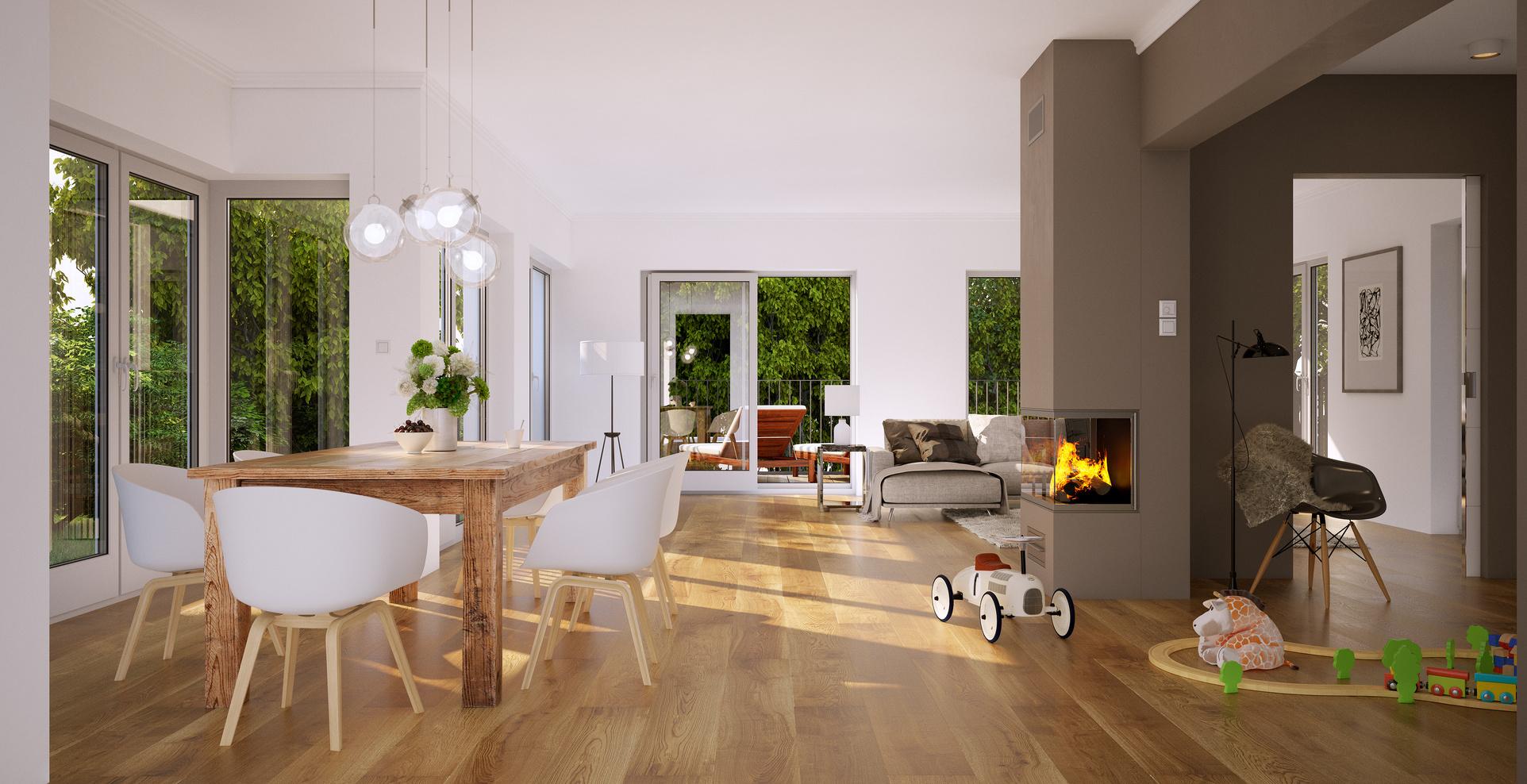 living room in luxury family home - Wohnzimmer in Luxus Einfamilienhaus